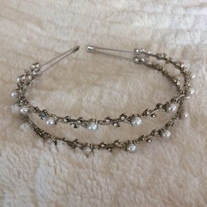 Two tiered pearly headband